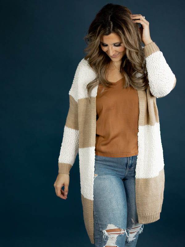 Janey Mixed Knit Cardigan
