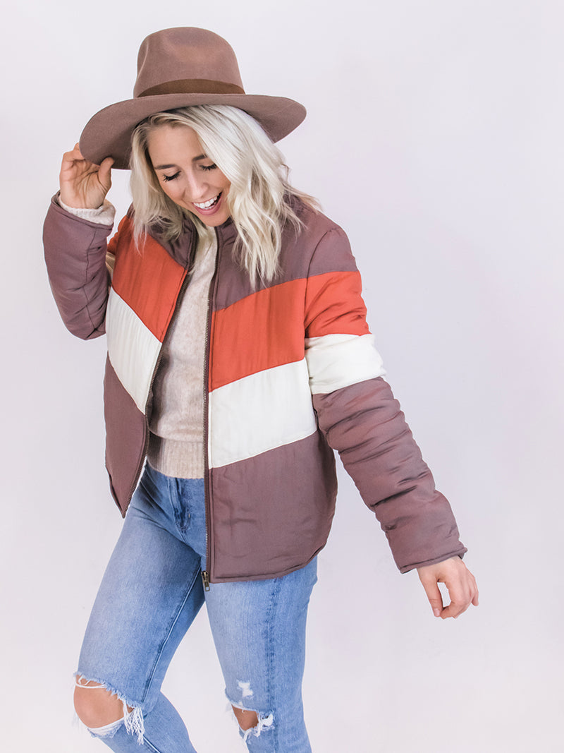 Quilted Color Block Jacket
