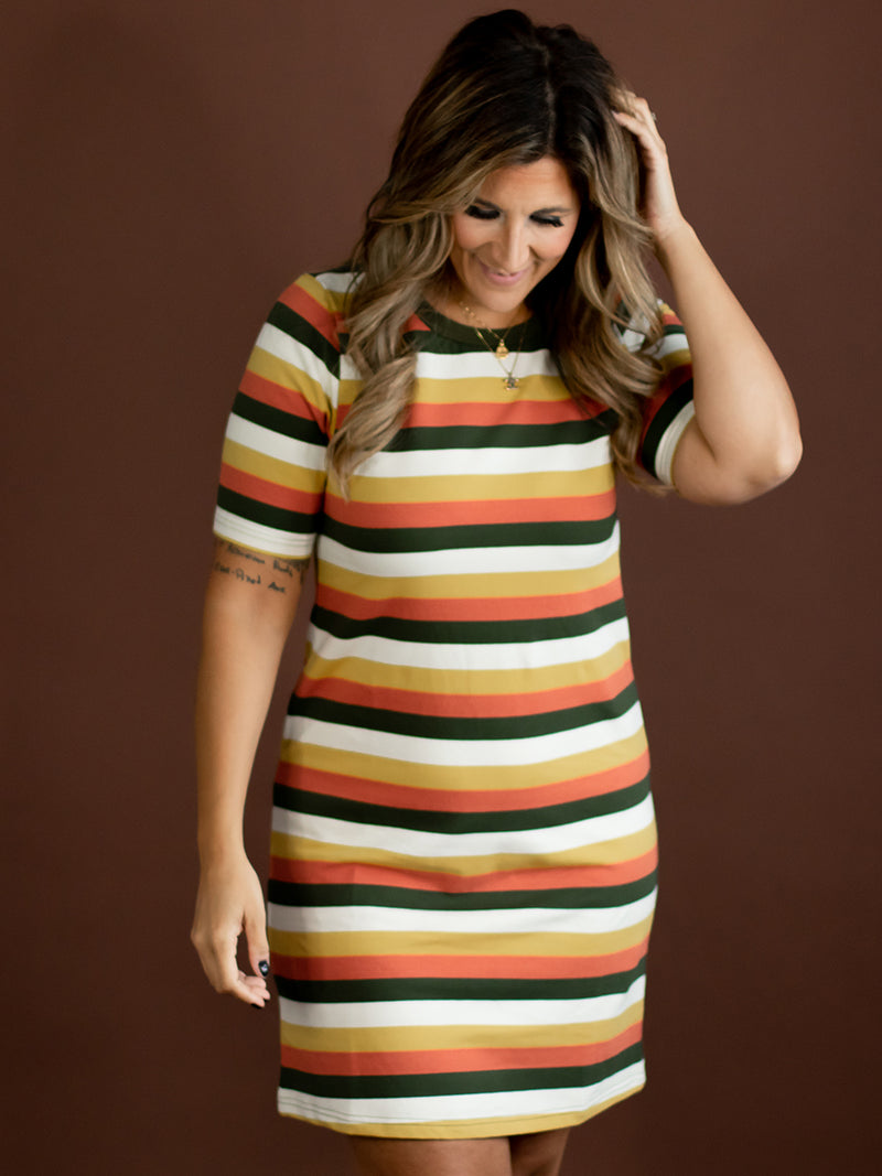 Hanna Multi Stripe T-shirt Dress