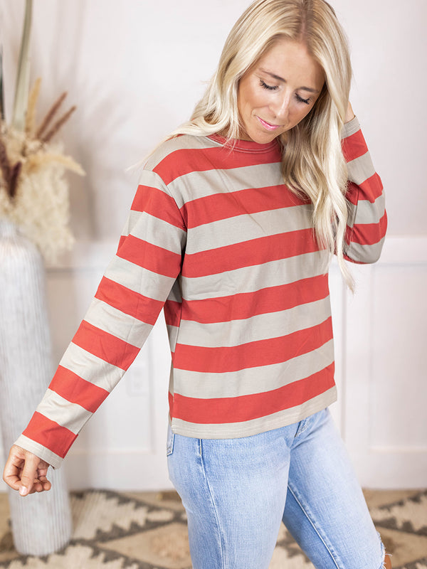 Evie Stripe Long Sleeve