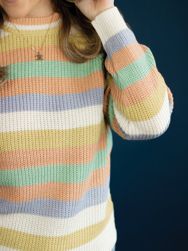 Candy Stripe Knit Sweater