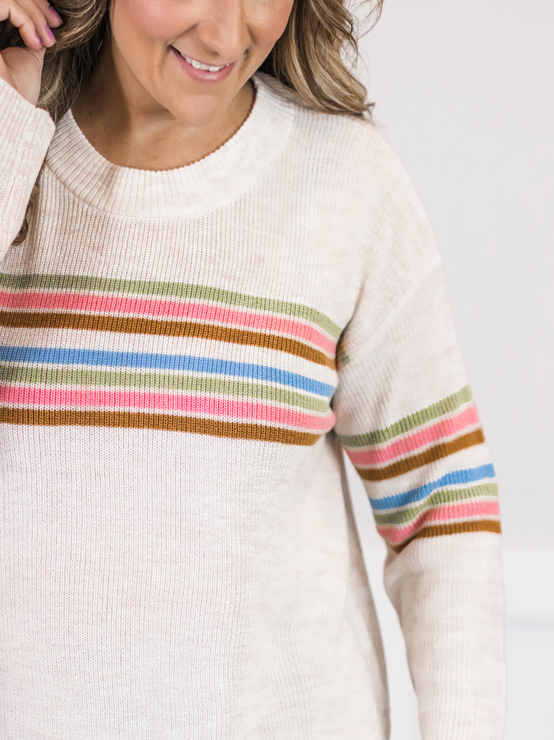 Meg Stripe Knit Sweater