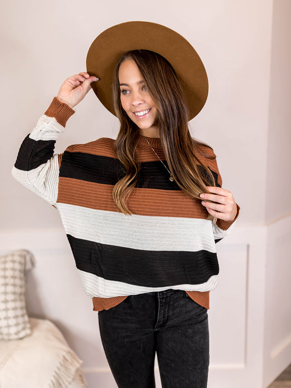 Spring Dreaming Bright Striped Sweater