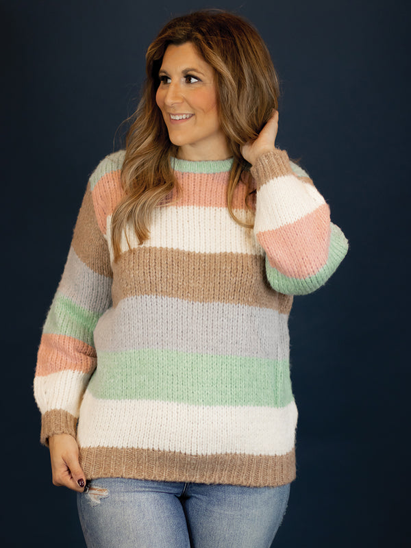 Juno Large Stripe Sweater