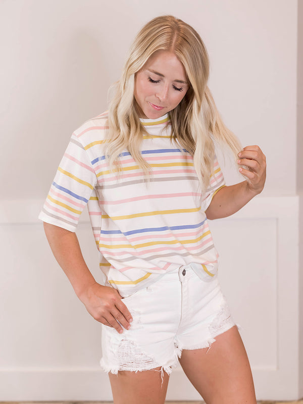 Stephie Multi Stripe Tee