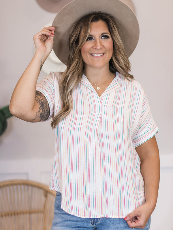 Valencia Stripe Top