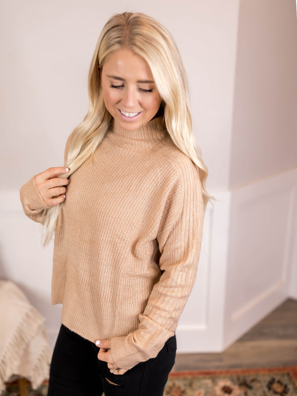 Jamila Mock Neck Sweater