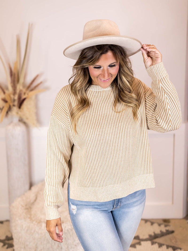 Kaylee Ribbed Knit Sweater