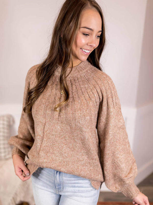 Billy Taupe Knit Sweater