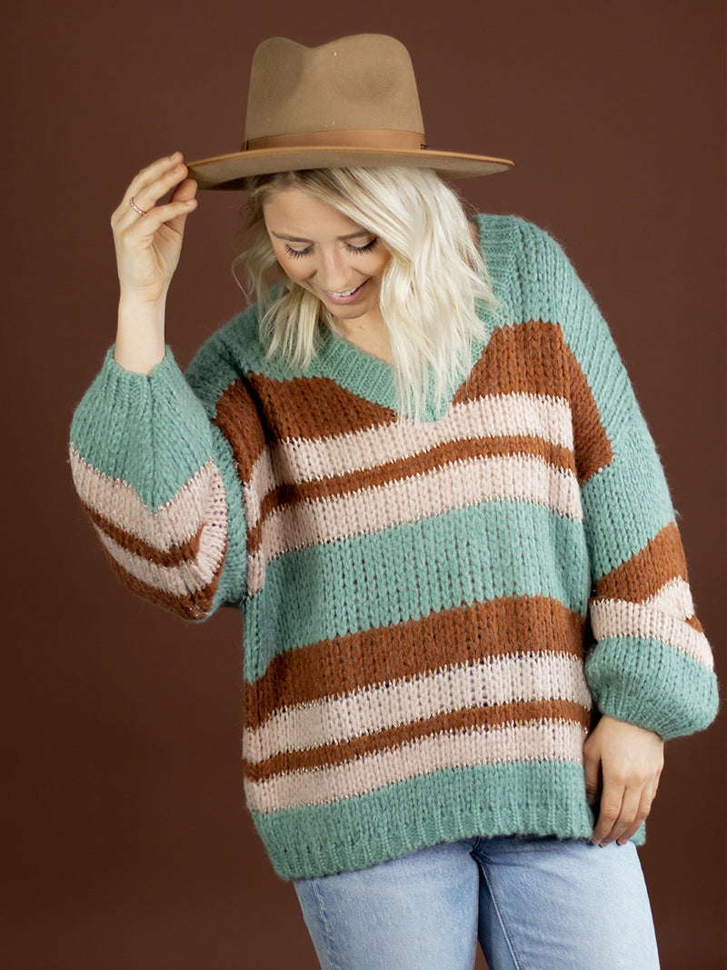 Mollie Stripe Detail Sweater
