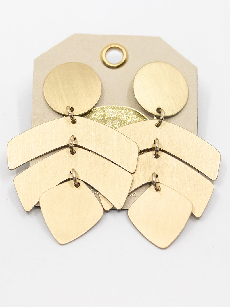 Gold Geo Drop Earring