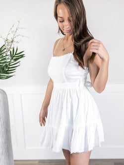 Posie White Flowy Dress