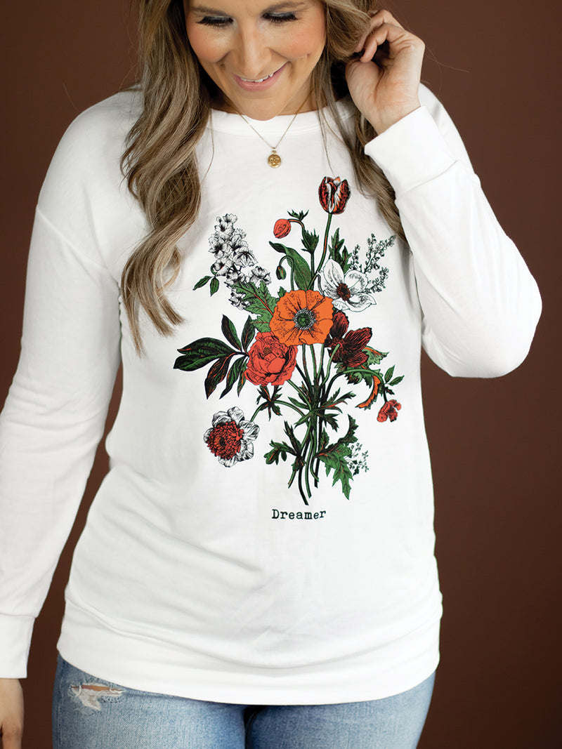 Wild Flowers Graphic Long Sleeve Tee