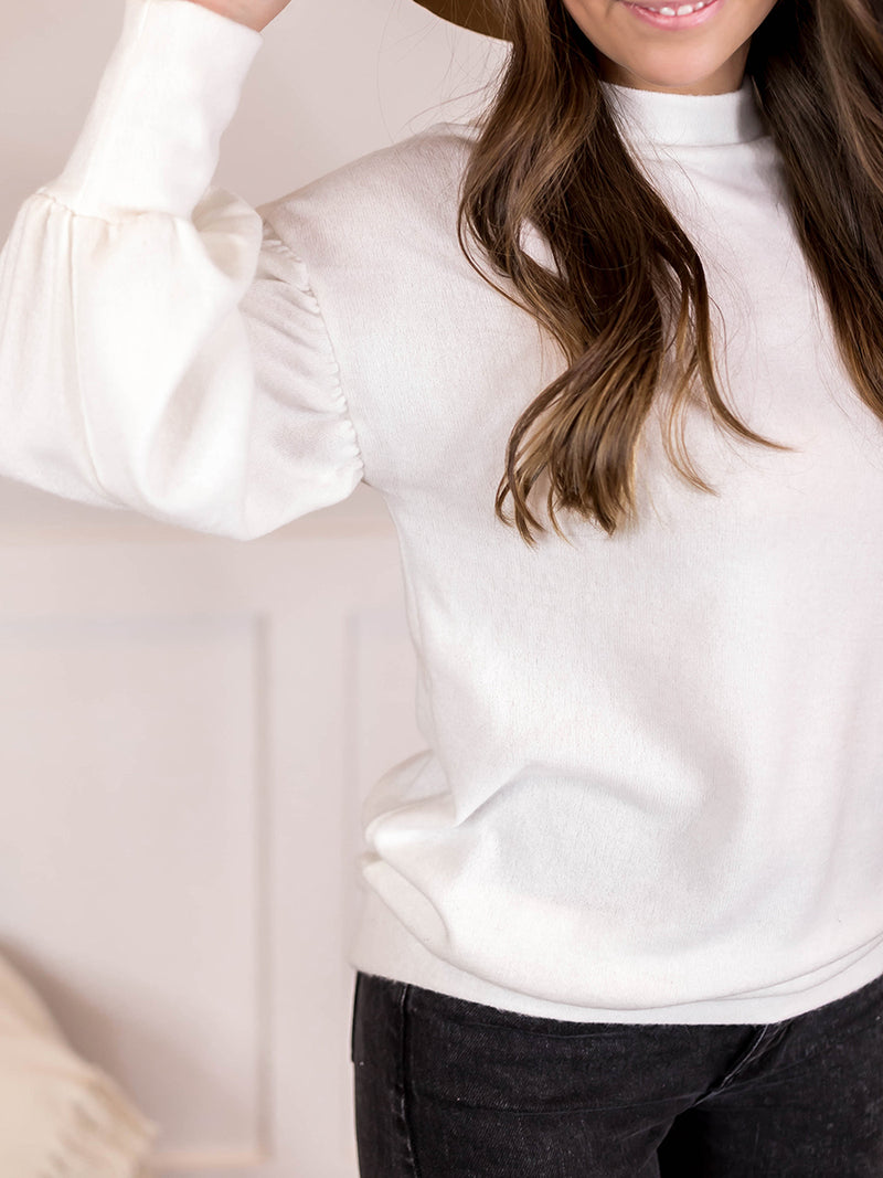 Mesa Mock Neck Knit Sweater