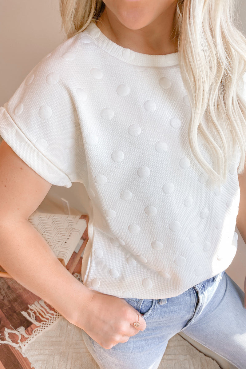 Sweet Threads White Embossed Tee