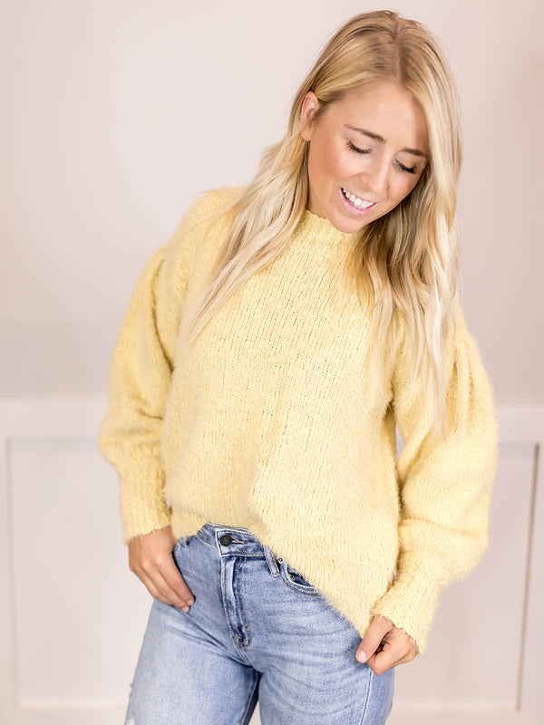 Harper Fuzzy Textured Sweater