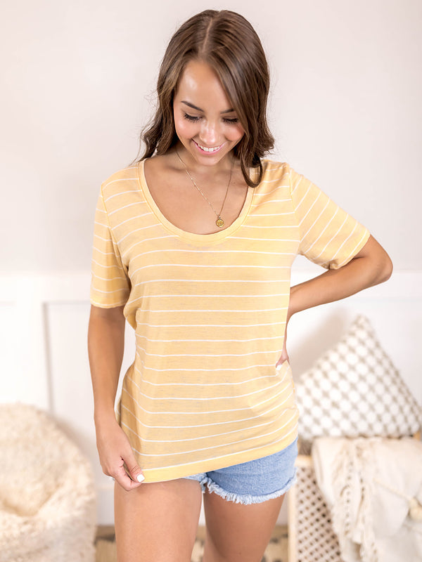 Everyday Yellow Stripe Tee