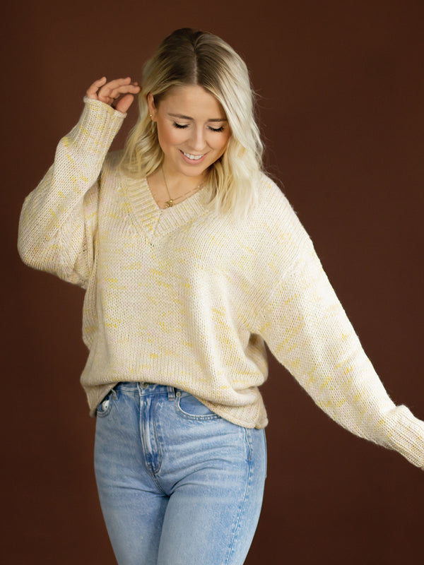 Millie Multi Knit V Neck Sweater