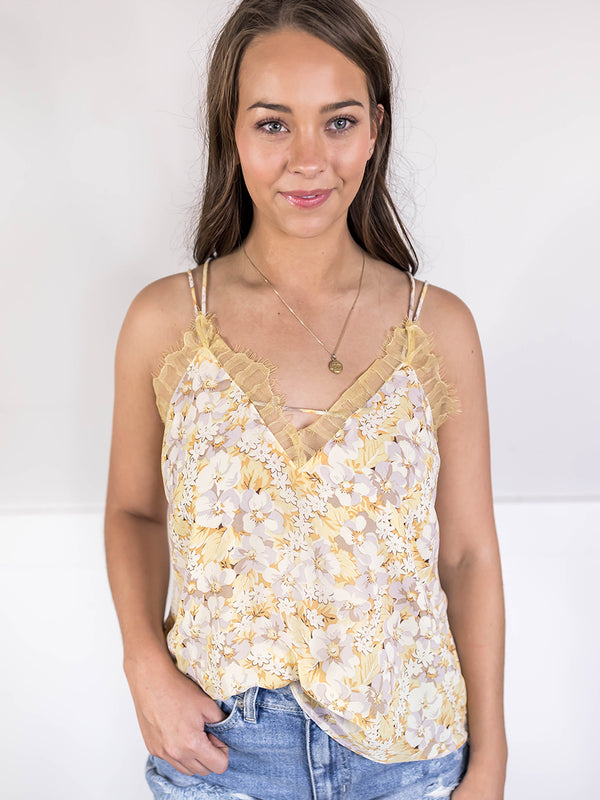Kina Floral Lace Tank