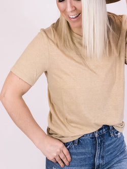 Dusty Yellow Triblend Basic Tee