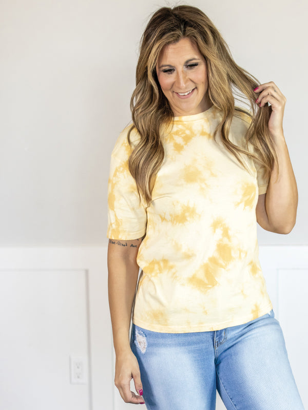 Everyday Yellow Tie Dye Top