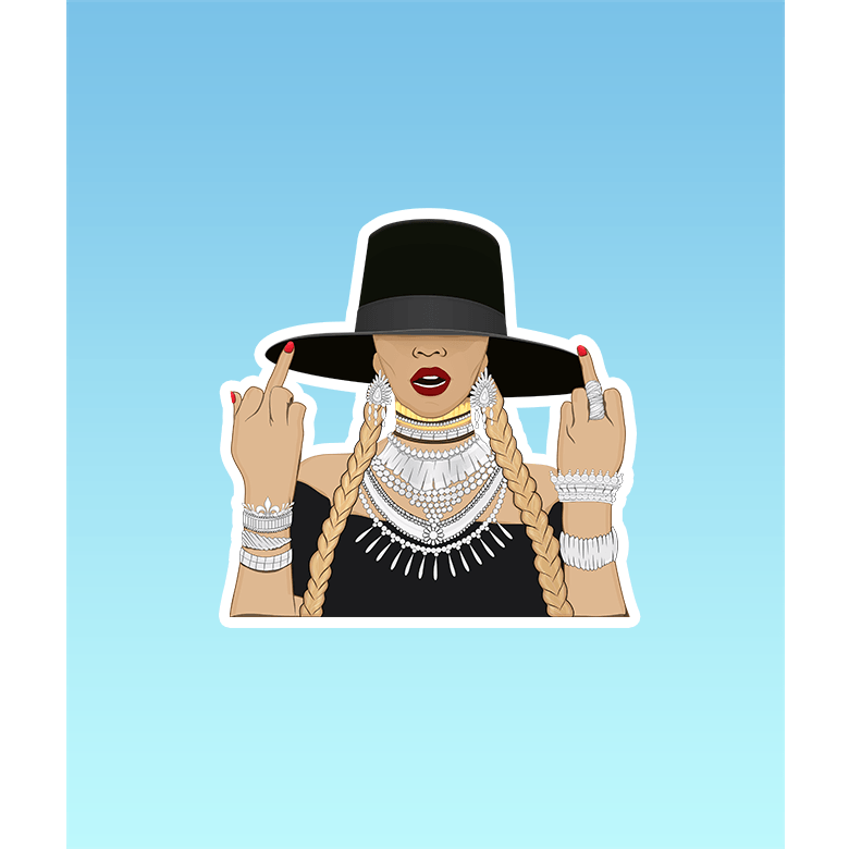 Pro & Hop Sticker - Attitude Queen (783916728369)