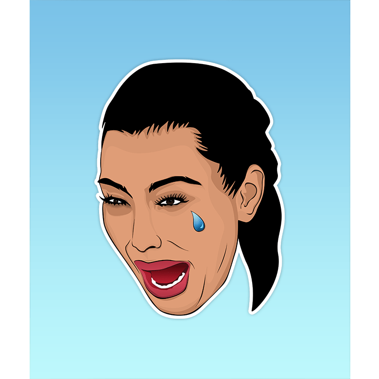 Pro & Hop Sticker - Kim Crying