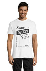Men's White Graphic T-Shirt - Front - ULTRABASIC