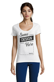 Women's White Graphic T-Shirt - Front - ULTRABASIC