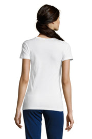Women's White Graphic T-Shirt - Back - ULTRABASIC