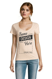 CREAMY PINK Graphic T-Shirt - Front - ULTRABASIC