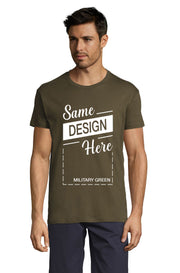 MILITARY GREEN Graphic T-Shirt - Front - ULTRABASIC