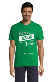 KELLY GREEN Graphic T-Shirt - Front - ULTRABASIC