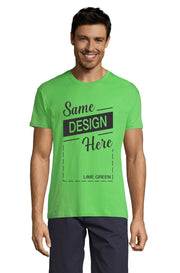 LIME GREEN Graphic T-Shirt - Front - ULTRABASIC