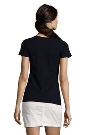 Women's Black Graphic T-Shirt - Back - ULTRABASIC