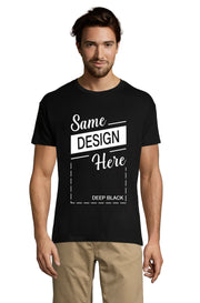 Men's Black Graphic T-Shirt - Front - ULTRABASIC