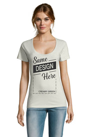 CREAMY GREEN Graphic T-Shirt - Front - ULTRABASIC