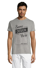 GREY MARL Graphic T-Shirt - Front - ULTRABASIC
