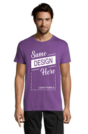 LIGHT PURPLE Graphic T-Shirt - Front - ULTRABASIC
