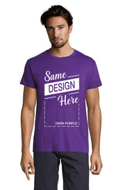 DARK PURPLE Graphic T-Shirt - Front - ULTRABASIC