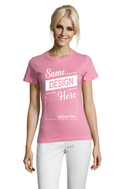 ORCHID PINK Graphic T-Shirt - Front - ULTRABASIC