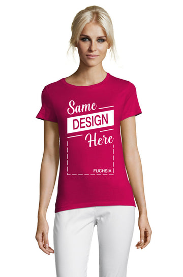 FUCHSIA Graphic T-Shirt - Front - ULTRABASIC