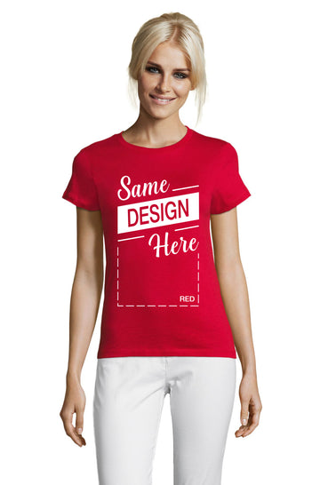 RED Graphic T-Shirt - Front - ULTRABASIC