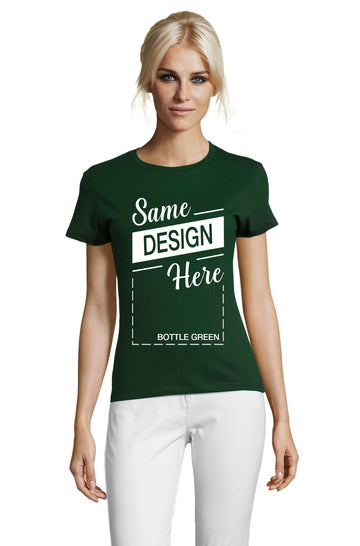 BOTTLE GREEN Graphic T-Shirt - Front - ULTRABASIC