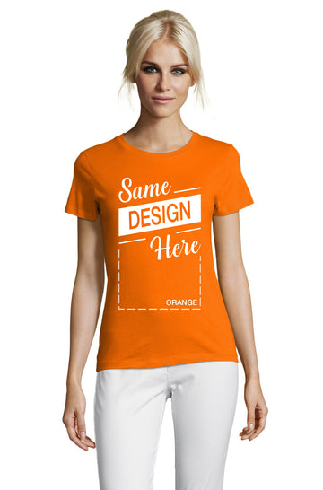 ORANGE Graphic T-Shirt - Front - ULTRABASIC