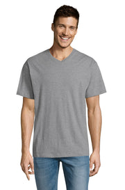 GREY MELANGE Graphic T-Shirt - Front - ULTRABASIC