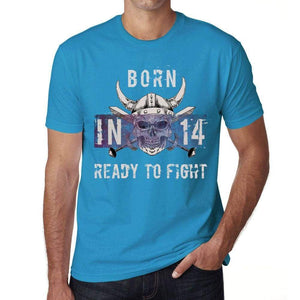 14, Ready to Fight, Men's T-shirt, Blue, Birthday Gift 00390 - ultrabasic-com