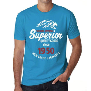 1950, Special Session Superior Since 1950 Mens T-shirt Blue Birthday Gift 00524 ultrabasic