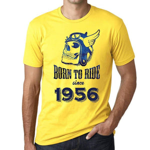 1956, Born to Ride Since 1956 Men's T-shirt Yellow Birthday Gift 00496 ultrabasic-com.myshopify.com