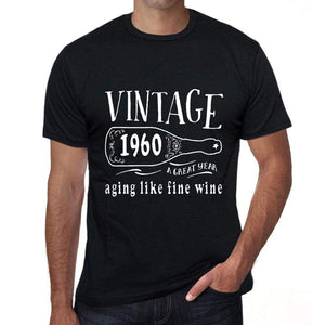1960 Aging Like a Fine Wine Men's T-shirt Black Birthday Gift 00458 ultrabasic-com.myshopify.com